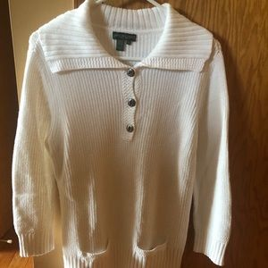 Ralph Lauren white knit sweater